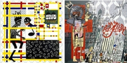 Gordon Bennett, links Home Décor (Preston + De Stijl = Citizen), rechts Notes to Basquiat
